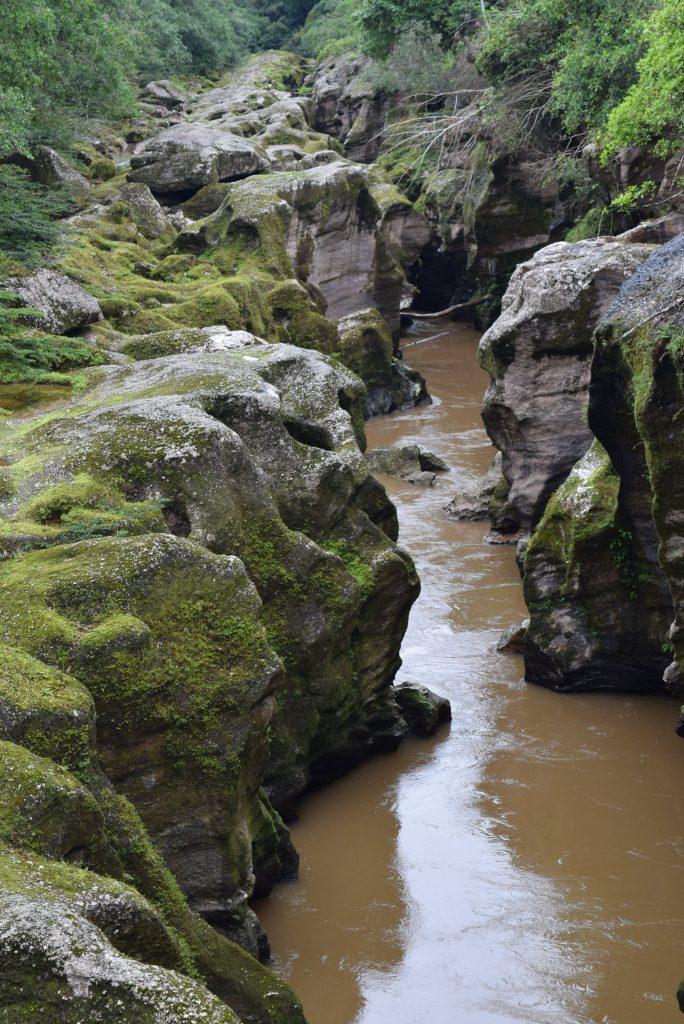 Formaciones rocosas del cañón del Mandiyaco