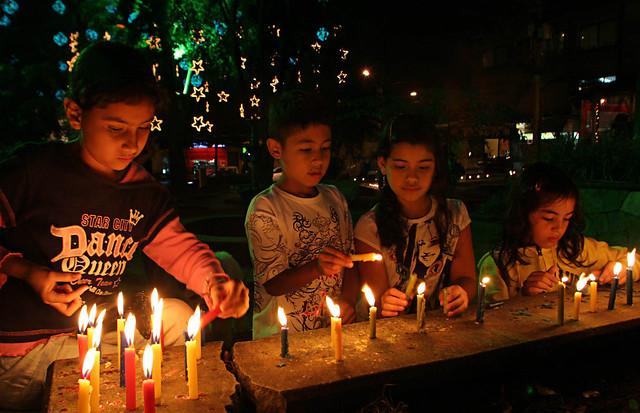 Noche de las Velitas en Villa de Leyva