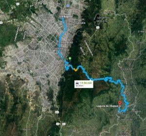 Laguna de Ubaque foto: Maps