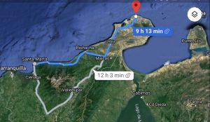 Dunas de Taroa: Mapa