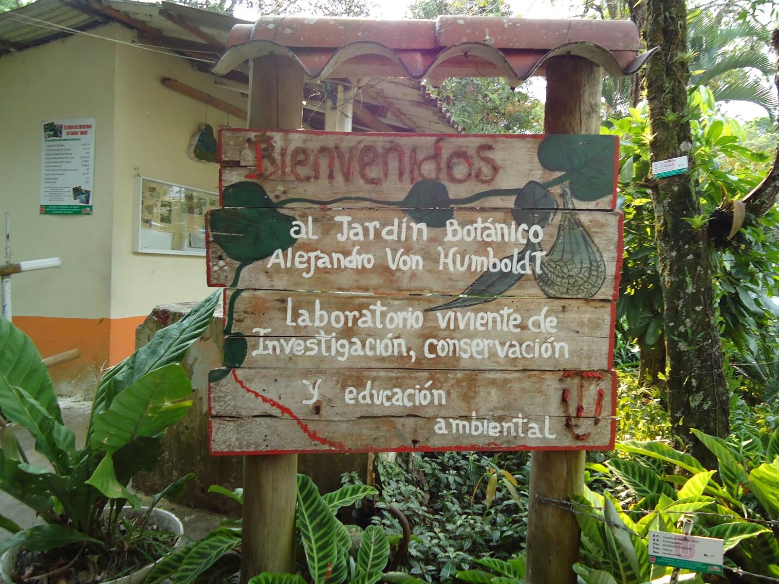 Jardín Botánico Alejandro Von Humbold. Foto: eccipracticas.blogspot.com