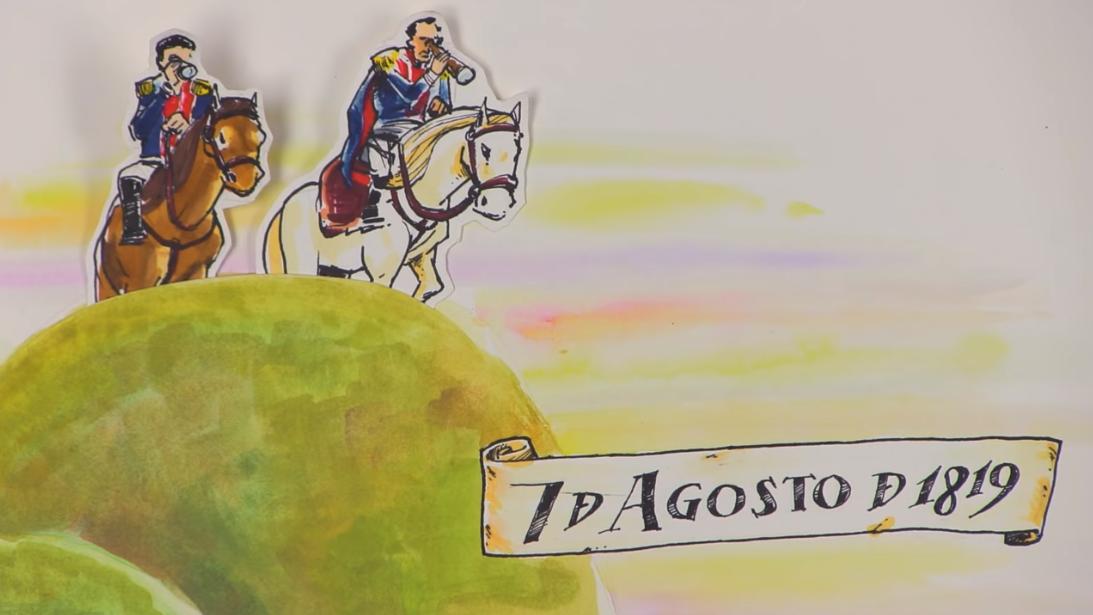 La Batalla de Boyacá el 7 de Agosto de 1819