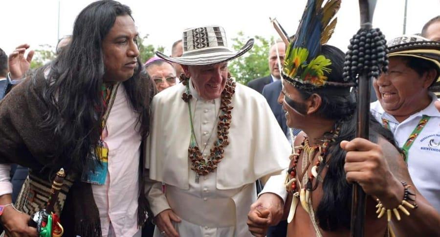 El papa Francisco y su sombrero Vueltiao